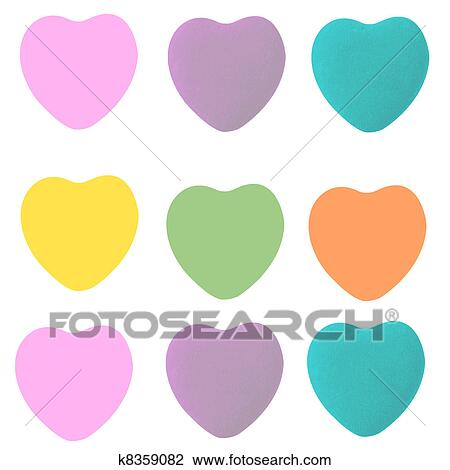 clip art of conversation hearts shapes k8359082 search clipart