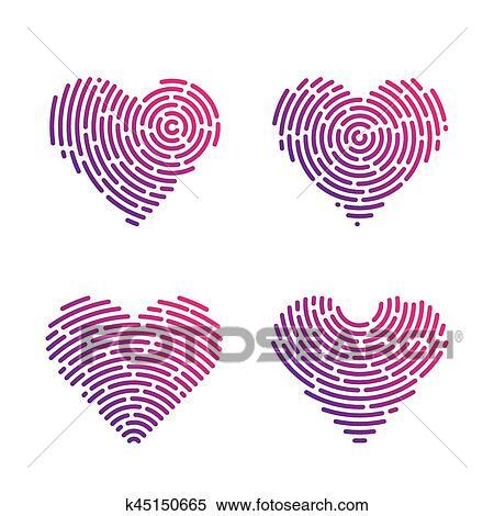 Clipart Corazón Letra De Dedo K45150665 Buscar Clip Art