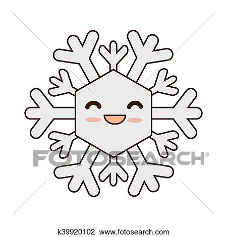 Mignon flocon de neige dessin anim clipart k39920102 fotosearch - Flocon dessin ...