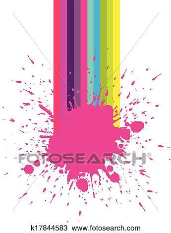Clipart Of Nail Salon Paint Splash K17844583