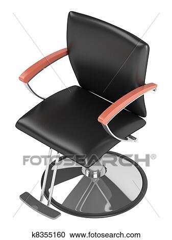 Noir Salon Coiffure Chaise Banque Dillustrations K8355160