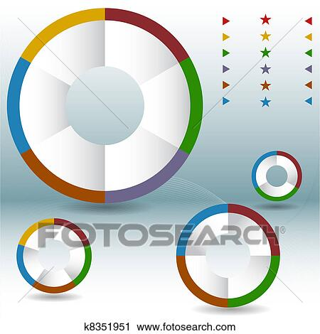Clipart of process wheel pie chart set k8351951 search clip art an image of a process wheel pie chart set ccuart Images