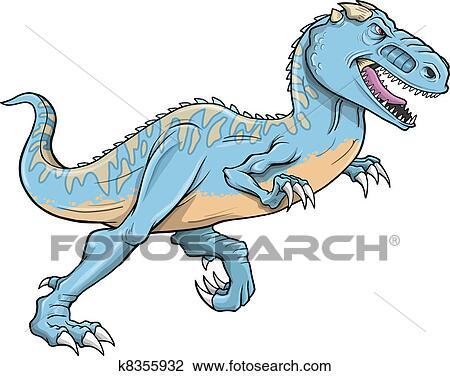 Klipart T Rex Carnotaurus Dinozor Vector K8355932 Clipart