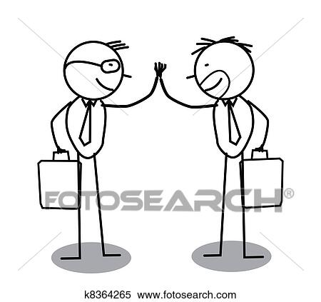 Clipart Of Businessman Agreement K8364265 Search Clip Art