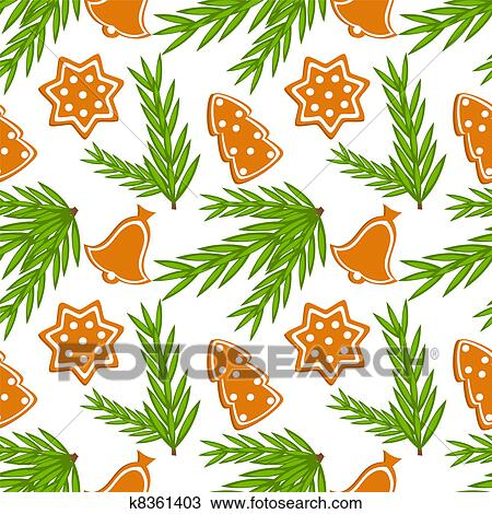 Christmas Cookies Clipart.Christmas Cookies Seamless Pattern Clipart