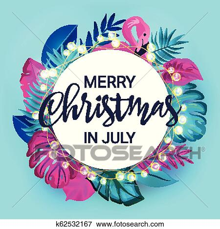 Merry Christmas In July Clipart.Christmas In July Sale Marketing Template Eps 10 Vector Clip Art