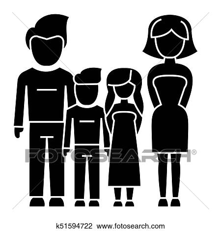 People Clipart Family 4 - Family Clip Art - 640x384 PNG Download - PNGkit