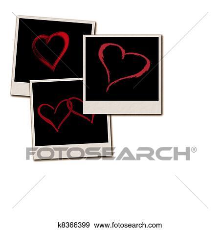Stock Illustration of Film Frames for Valentines Day k8366399 ...