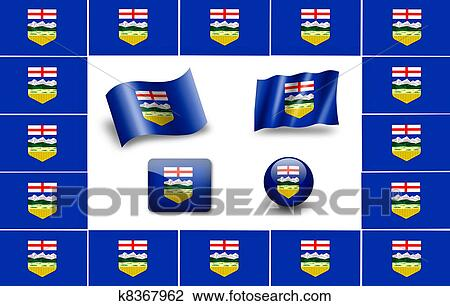 clip art of flag of alberta icon set k8367962 search clipart