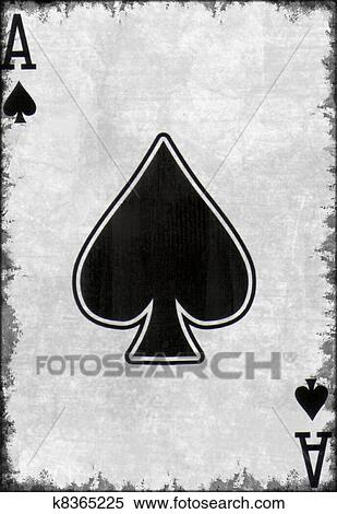 Stock Illustration Of Grunge Ace Of Spade Playing Card K8365225