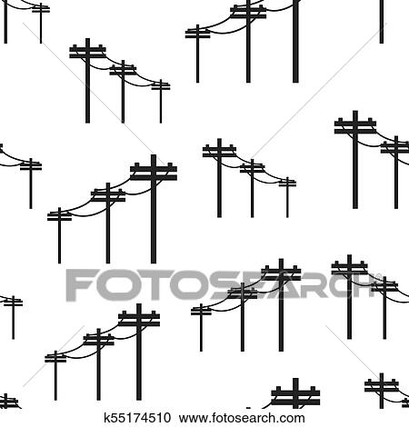 Cliparts For Free Download Pole Clipart Drawing Telephone - Clipart Electric  Tower, HD Png Download , Transparent Png Image - PNGitem