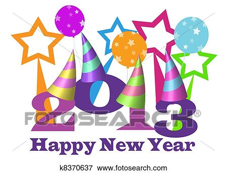 stock illustration happy new year 2013 fotosearch search eps clipart drawings