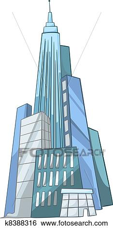 clip art of cartoon skyscraper k8388316 search clipart rh fotosearch com Skyscraper Graphic skyscraper clipart free