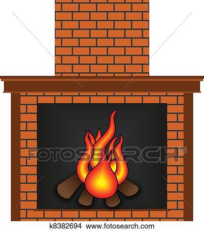 clipart of fireplace k8382694 search clip art illustration murals rh fotosearch com clipart fireplace mantels clipart fireplace