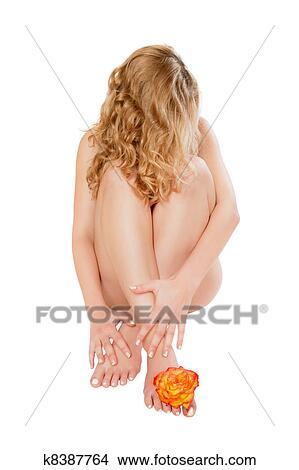 Mulher loura nua