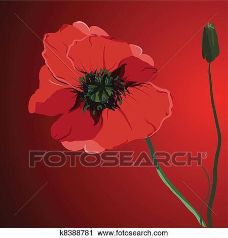 Clipart of red flower poppy vector memorial illustration k8388781 clipart red flower poppy vector memorial illustration fotosearch search clip art illustration mightylinksfo