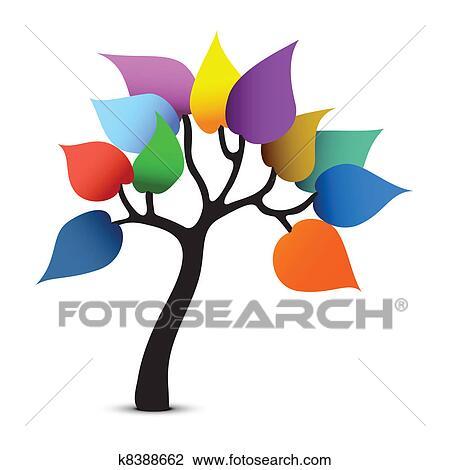 clipart of tree color design fantasy graphic vector. Black Bedroom Furniture Sets. Home Design Ideas