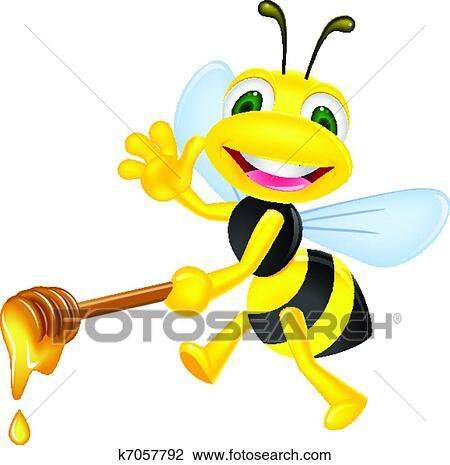 蜂 で 蜂蜜 クリップアート切り張りイラスト絵画集