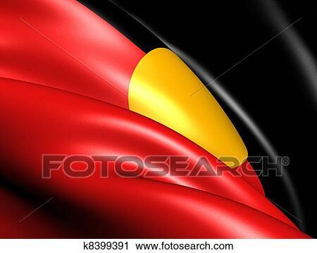 Australian Aboriginal Flag Clip Art K8399391 Fotosearch