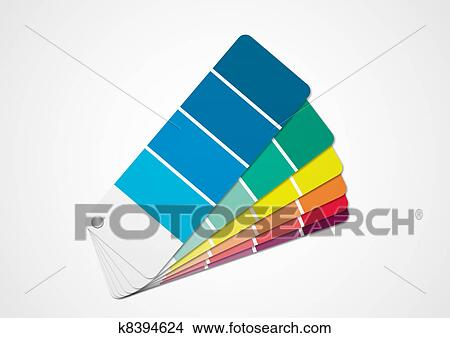 Drawings Of Color Chart K8394624 Search Clip Art Illustrations
