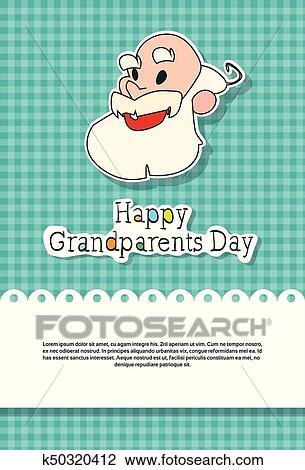 Clipart of happy grandparents day greeting card banner k50320412 clipart happy grandparents day greeting card banner fotosearch search clip art illustration m4hsunfo