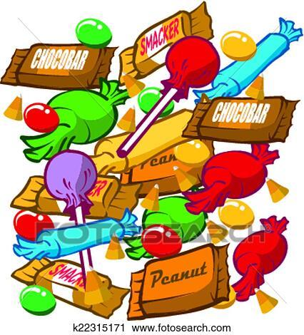 Clipart bonbon k22315171 recherchez des clip arts des illustrations des dessins et des - Bonbons dessin ...