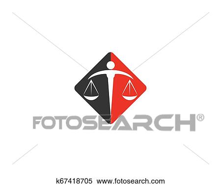 Law Firm logo vector Clipart