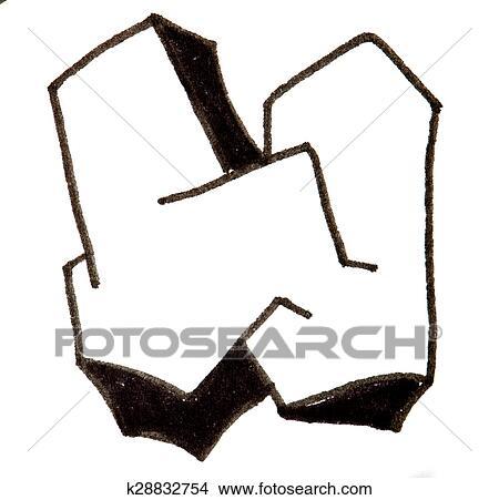 Dessins Lettre W Alphabet Dans Graffiti Style K28832754