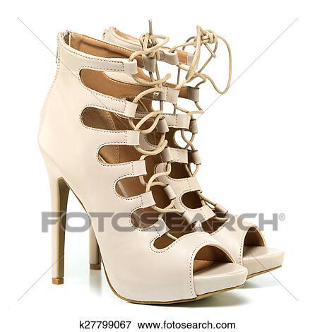 best sneakers 41c25 f4cdb Modische, stilett, stöckelschuhe, polnische schuhe Stock Foto