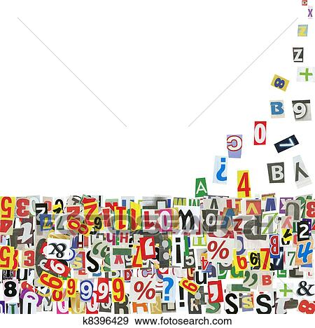 Stock Photograph of newspaper letters k8396429 - Search Stock ...