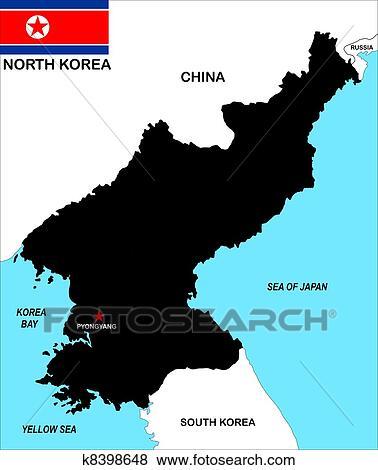 Stock Illustration Of North Korea Map K8398648 Search Eps Clip Art
