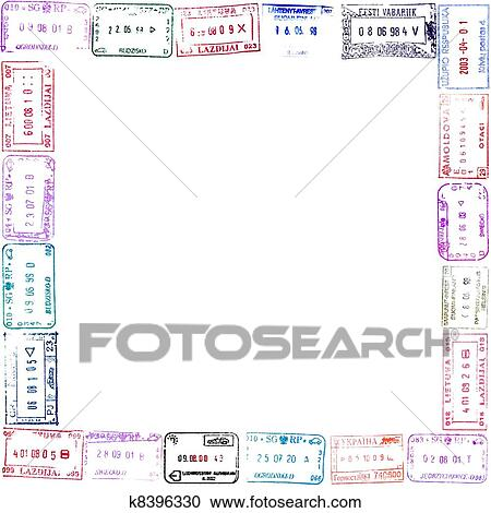 Stock Photography of Passport Stamps k8396330 - Search Stock Photos ...