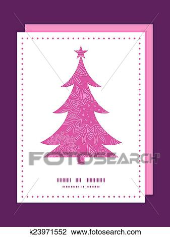 Clipart of Vector pink abstract flowers texture Christmas tree ...