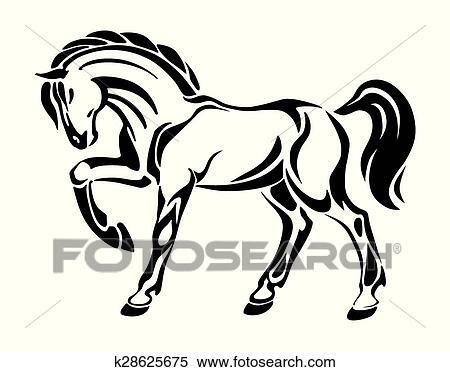 clipart cavalo tatuagem stylized desenho k28625675 busca
