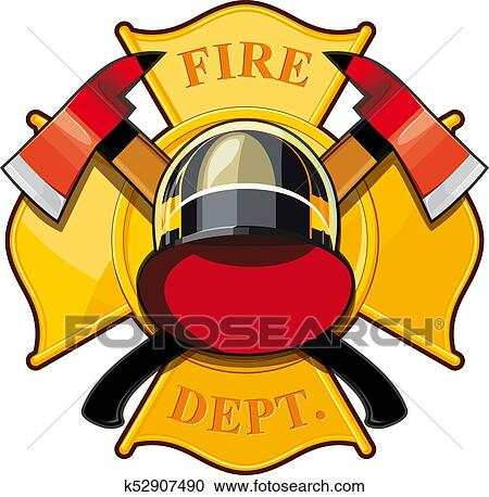 clipart of fire department badge k52907490 search clip art rh fotosearch com fire department clip art that you can edit fire department clipart free