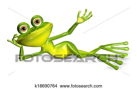 Grenouille verte dessins k18690764 - Dessin de grenouille verte ...