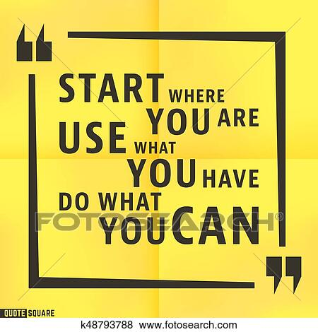clip art of quote motivational square template k48793788 search