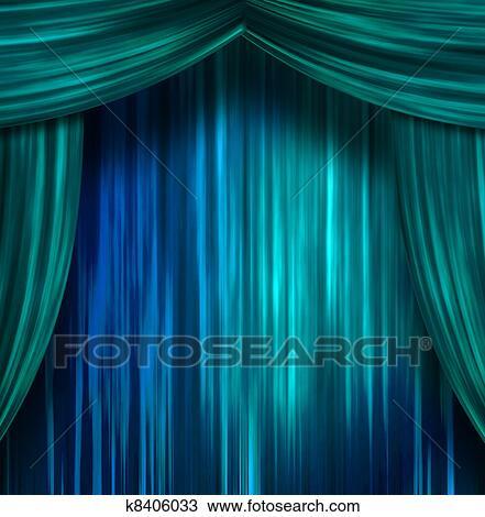 Tekening - theater, gordijnen k8406033 - Zoek Clipart, Illustratie ...