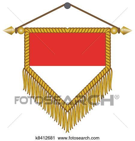 ベクトル 優勝旗 で 旗 の モナコ クリップアート切り