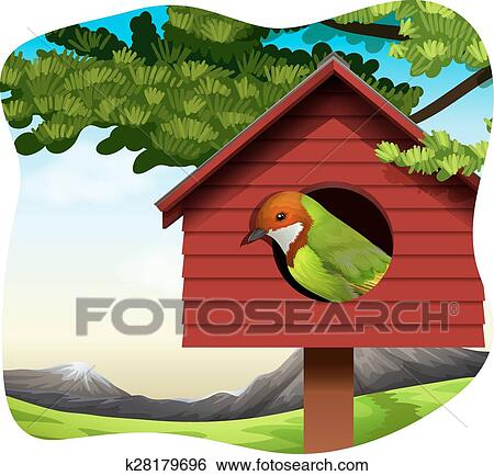 Bird house Clip Art   k28179696   Fotosearch