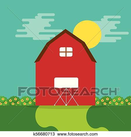 Warehouse Cartoon clipart - Farm, Building, Line, transparent clip art