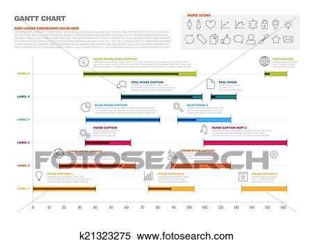 Gantt project production timeline graph clipart clipart gantt project production timeline graph fotosearch search clip art illustration murals ccuart Images