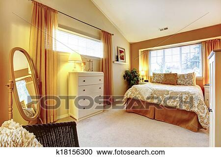 Stock fotografie genle warme kleuren slaapkamer k