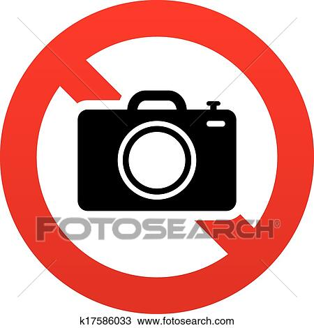 No Camera And Video Red Prohibition Signs. Taking Pictures And.. Royalty  Free Cliparts, Vectors, And Stock Illustration. Image 98586812.