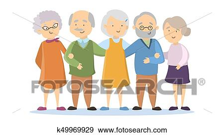 clip art of old people set k49969929 search clipart illustration rh fotosearch com Black and White Clip Art Old People old people clipart
