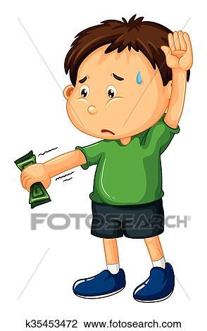 clipart of sad boy handing money over k35453472 search clip art rh fotosearch com sad boy girl clipart sad little boy clipart