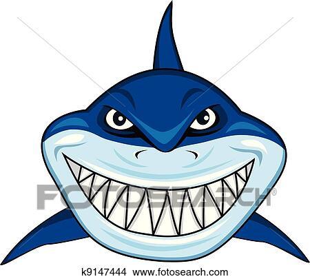 clipart of smiling shark k9147444 search clip art illustration rh fotosearch com Baby Shark Clip Art Baby Shark Clip Art