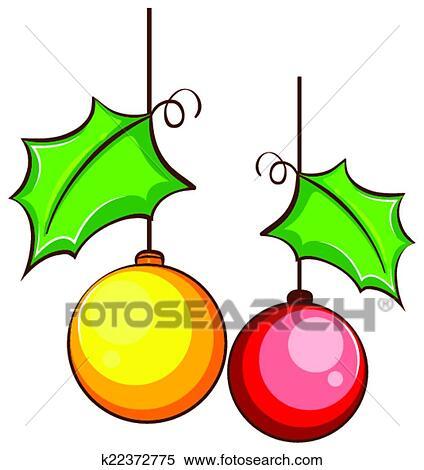 Clipart - um, simples, colorido, desenho, de, um, natal ...