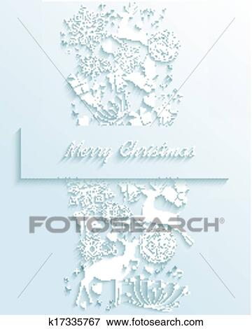 Buon Natale 3d.Bianco Buon Natale 3d Bianco Decorazione Cartolina Auguri Clip