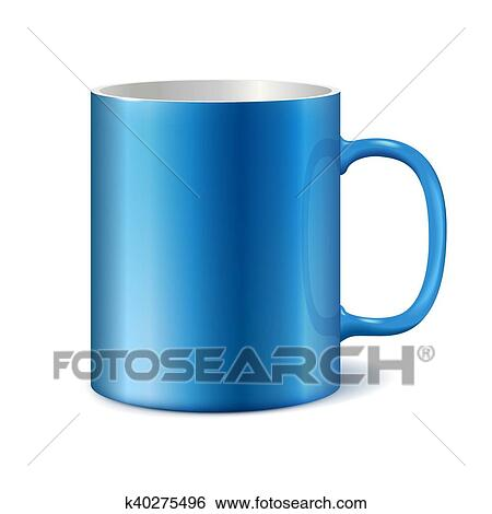 blue and white ceramic mug for printing corporate logo clip art k40275496 fotosearch fotosearch
